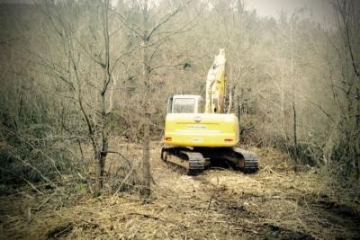 Trinciatura forestale con escavatore